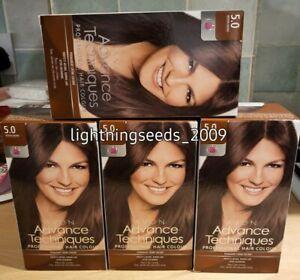 Avon ADVANCE TECHNIQUES Professional Hair Colour MEDIUM BROWN 5.0 x4 Lots