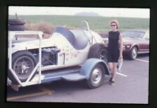 Mario Andretti #2 Kuzma/Offy on Trailer - 1968 USAC - Original 35mm Race Slide