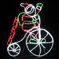 [Milky Tube] 102CM LED Santa Riding Penny Farthing Bicycle Christmas Rope Lights