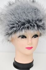 GREY SILVER MOON Faux Fur PREMIUM QUALITY Hat Russian Style Cossack Fluffy NEW