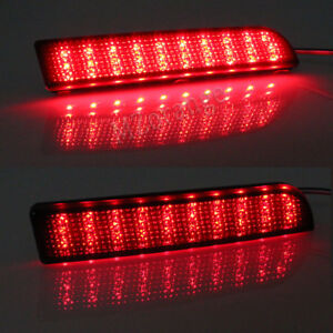 2X LED Rear Bumper Reflector Light Lamp For Mitsubishi Lancer CJ 2007-2017 Black