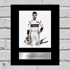 Fernando Alonso Signed Mounted Photo Display McLaren Honda #2