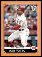 2020 Big League Base Orange #14 Joey Votto - Cincinnati Reds