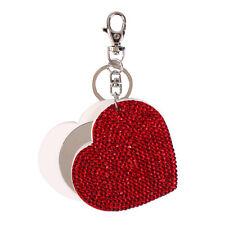 Clearance Luxury Retro Women Girls Cute Heart Slide Mirror Key Chain