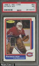 1986 O-Pee-Chee OPC Hockey #53 Patrick Roy Canadiens RC Rookie PSA 7 NM