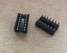 DIL 14 Pin IC Socket, Row Pitch 7.62mm, Terminal Pitch 2.54mm   2 pieces   HU304
