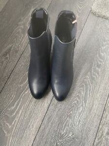 Navy Real Leather Chelsea Boots - UK Size 5 (EU 39)