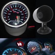 """Pointer 2"""" 52mm Car Smoke Len LED Volt Voltage Gauge Meter + Pod Holder"""