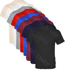 Mens Short Sleeve Plain V Neck T - shirt Top Casual Cotton