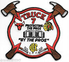"""Chicago  Truck - 7  """"Protecting Pros by Pros"""", IL (4"""" x 3.5"""" size) fire patch"""