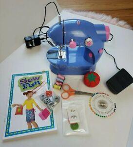 Alex Mini Sewing Machine Sew Fun Kids Beginner Seamstress Travel Booklet Petal
