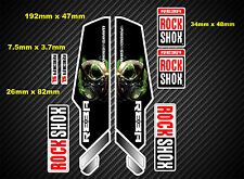 Rock Shox Reba Bike Style Suspension Fork Decal/Stickers rxx03