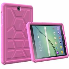 Galaxy Tab S2 9.7 Case Poetic Turtle Skin Shockproof Bumper Cover for Samsung Pink