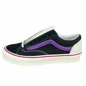 New VANS Style 36 (Retro Sport) Skate Shoe Black Purple Marshmallow Womens 7