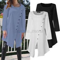 Womens Long Sleeve Flared Tunic Top Mini Shirt Dress Pullover T Shirt Blouse NEW