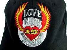 Harley Davidson Of Glendale Love Ride 19 Snapback Baseball Cap Black 2002