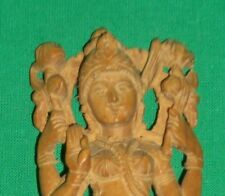 VTG WOODEN HINDU STATUE PARVATI GOVERNMENT KERALA INDIA QUALITY MARK WOOD DEITY
