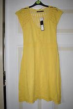 Atmosphere Primark Sommerkleid, Strickkleid Häkelkleid Größe 8 gelb sexy NEU