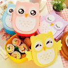 Cute Cartoon Owl Lunch Box Food Container Storage Box Portable Bento Box Spoon