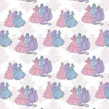 New listing Disney Princess Friends Fashion White 100% Cotton Fabric by The Yard