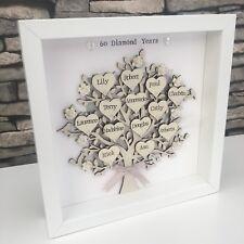 Personalised Family Tree Diamond Wedding Anniversary Grandparents Gift 🎁