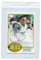 DEVIN SMITH Signed 2015 Topps New York JETS NFL Football CARD #76A-DS 064/100