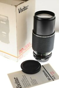 Vivitar 80-200mm MC f/4.5 zoom lens Nikon F. EXC++ boxed cond. Pro grade lens!
