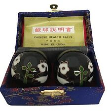 Baoding Balls Chinese health Massage Exercise Stress Balls -Black Panda #2