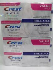 Crest 3D White Brilliance Toothpaste, Vibrant Peppermint 4.1 oz  Pack of 4