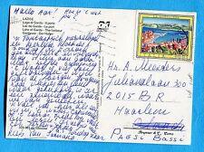 TURISTICA £.600 (Sass. 1954 LA MADDALENA)  ISOLATO su cart.per l'OLANDA (263010)