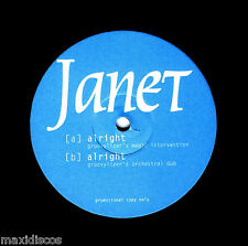 "12"" JANET JACKSON - ALRIGHT (VERY RARE 33 RPM PROMOTIONAL COPY ONLY) MINT *NUEVO"