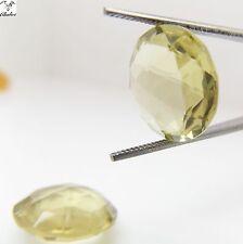 1x Citrin - Lemon Rund Linsen cut facettiert 15,0x8,0mm  (CL036B)
