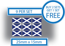 9 x Scottish Flags Small Bike Helmet Car Window Vinyl Stickers Decals Scotland