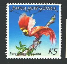 PAPUA NEW GUINEA 603 SG452 Used 1984 5k Bird of Paradise Cat$10
