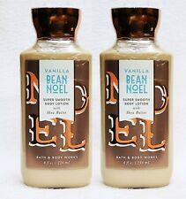 2 Bath & Body Works VANILLA BEAN NOEL Super Smooth Body Lotion Cream 8 oz
