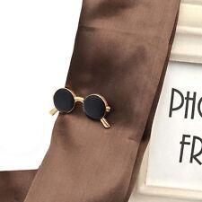 Vintage Sunglasses Shape Tie Clip Bar Necktie Pin Clamp Mens Accessories Party