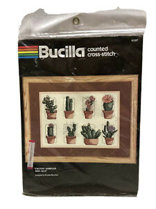"Counted Cross Stitch Bucilla Cactus Sampler 9""x12"" Brooke Morrison 40287"