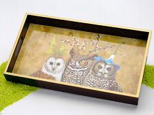 PPD Tablett Lacktablett aus Holz Owl Family 31 x 17,5 cm