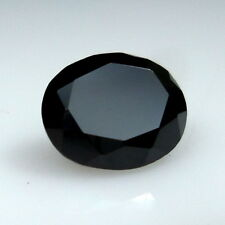 9x11 MM 5.2 Carat Top Grade Quality Faceted Natural Black Spinel Oval Cut Shape