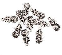 10pcs Pineapple Fruit Beads Charms Tibetan Silver Pendant DIY Bracelet 15*10mm