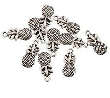 10pcs Pineapple Fruit Beads Charms Tibetan Silver Pendant DIY Bracelet 15*10mm