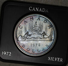 Gorgeous Rainbow Toned 1972 Canada Silver Dollar!