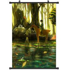 Anime Mononoke Hime Princess wall Poster Scroll 3291