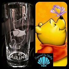 Personalizzata WINNIE THE POOH Bicchiere fatto a mano libera nome incisione! PERSONALIZZATO REGALO!