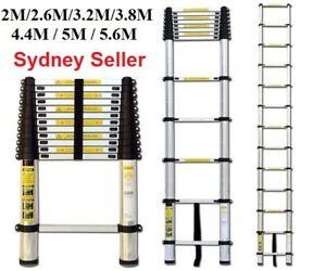 2/2.6/3.2/3.8/4.4/5/5.6 Telescopic Aluminium Ladder Extension Extendable Step