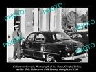 OLD LARGE HISTORIC PHOTO OF CEDARTOWN GEORGIA, THE TOWN POLICE CHIEF & CAR c1949