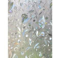 No-Glue PVC Static Window Films Cover 3D Tulip Frosted Glass Stickers Decor $S1