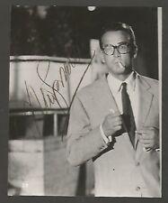 REAL PHOTO Vittorio Gassman Italian Actor Original Signed