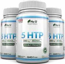 Nu U 5HTP 200mg 3 Bottles 540 Tablets UK Manufactured 100% Money Back Guarantee