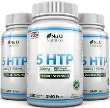 5HTP 200 mg 3 frascos de 540 comprimidos de Reino Unido fabricadas 100% garantía de devolución de dinero u Nu